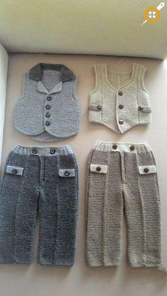 Erkek bebek örgü pantolon modelleri