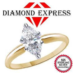 """4.50 Ct Marquise Cut Solitaire Engagement Wedding Ring 14K Gold """""""". Starting at $29"""