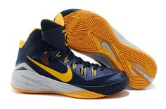 pick up 01f1f f7aa9 Mens Nike Hyperdunk 2014 PE Midnight Navy University Gold-Cement Grey  Chaussures De Course