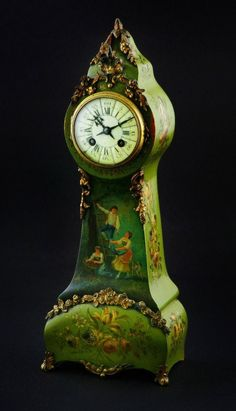 Antique Clocks : A French Miniature Long case Clock, century -Read More – Antique Clocks, Vintage Clocks, French Clock, Classic Clocks, Wall Watch, Mantel Clocks, Cool Clocks, Time Clock, Grandfather Clock