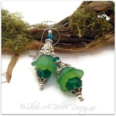 Tree Sprite Fairy Flower Pixie Drop Earrings in Antique Silver   Shes-A-Belle Designs $22.00