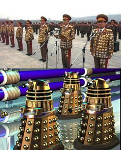 North Korean generals and Doctor Who's nemesis, the Daleks. Exterminatingly hilarious. #doctorwho