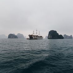 Ha Long Bay is such a magical and mysterious place it felt like we sailed into the set of Pirates of the Caribbean. I would have loved to explore longer I guess we will have to go back! @intrepidtravel #liveintrepid