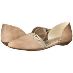Anne Klein Oshea Women's Flat Shoes ($69) ❤ liked on Polyvore featuring shoes, flats, anne klein flats, low heel shoes, slip on flats, platform flats and flat pumps
