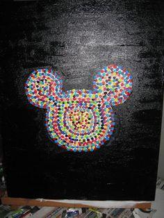 Q tip Disney art