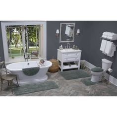Better Homes and Gardens Extra Soft Bath Rug, Gray
