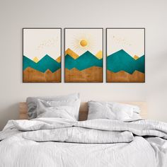 Excited to share this item from my #etsy shop: Nordic wall art - mountain wall art - geometric abstract wall art - mountain print - nordic print - abstract mountain print - boho printable
