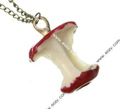 35cm Sweater Chain Necklace Jewelry Apple Shape Red