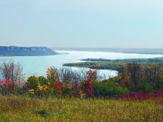 View of the Mississippi River and Lake Pepin from Frontenac State Park between Red Wing and Lake City, Minnesota.