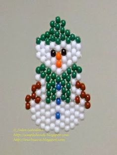Snowman Beaded brick stitch technique