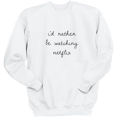 I'd Rather Be Watching Netflix Sweater Crew Neck Sweatshirt 5sos Band... (€24) ❤ liked on Polyvore featuring tops, hoodies, sweatshirts, sweaters, black, women's clothing, long tops, crew-neck sweatshirts, checked shirt and patch shirt