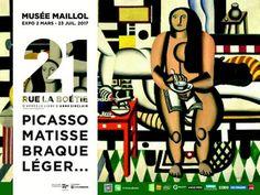 """""""21 rue de la Boétie"""": non ceci n'est pas une adresse. Mais une exposition, qui abrite des œuvres de célèbres peintres tels que Picasso, Matisse et bien d'autre. Rdv au Musée Maillol, 59-61 rue de Grenelle 75007, du 2 mars au 23 juillet 2017 de 10h30 à 18h30."""