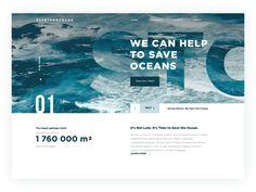 Save the oceans website animation tubik design