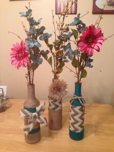 Wine bottle crafts DIY