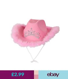 2b5acc46adc1f Accessories Pink Cowboy Hat Ladies Hen Night Fancy Dress Wild West Rodeo  Accessory  ebay  Fashion