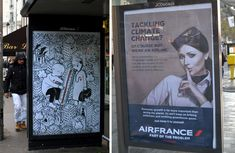 Just days before the start of the UN COP21 Climate Conference held in Paris and during the French state of emergency following terrorist attacks earlier this November, 600 posters were covertly distributed and hung within the city. The posters were not taped to poles or distributed in public gro
