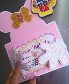 Minie Mouse Party, Minnie Mouse Birthday Theme, Girl Birthday Themes, 2nd Birthday Parties, Flower Crafts Kids, Mickey Invitations, Mickey E Minie, Kids Party Decorations, Disney Diy
