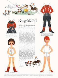 Bonecas de Papel: Betsy McCall visits Roy Rogers' ranch, 1959