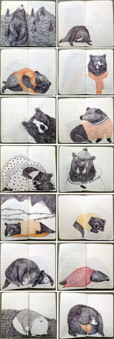 Sketchbook inspiration: bears by Lieke van der Vorst