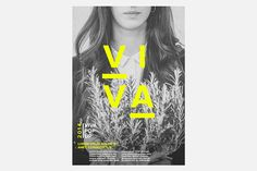 VIVA Pop Up by The Woork Co, via Behance || grey scale with a pop of colour