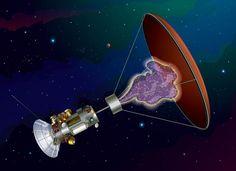 Artist's concept of Hbar Technologies' antimatter probe. Credit: Steven Howe/Hbar Technologies, LLC