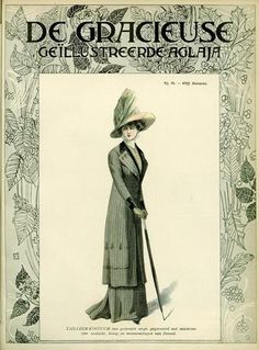 De Gracieuse November 1909, Edwardian Fashion Plate
