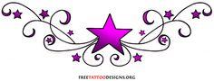 Lower Back Tattoo Designs for Women stars | Star Tattoos | Shooting Stars and Nautical Star Tattoo Designs