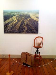 Silla y maleta de María Reiche