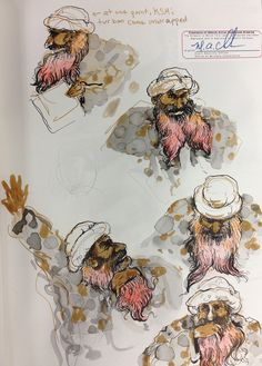 Molly Crabapple Sent Us Sketches from Khalid Sheikh Mohammed's Pretrial Hearings at Gitmo | VICE United States