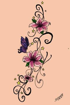 My Tattoo design. (I originally drew this for my ribs but iv never used it. Got one side of my ribs done with a dedication to my man and iv drawn something epic ready for the other side).