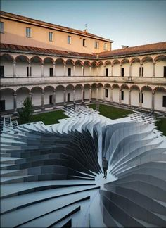 Instalación TWIRL by zaha hadid architects using Lea Ceramiche Slimtech tiles