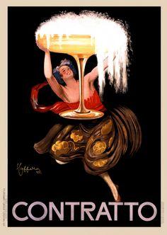 Contratto Leonetto Cappiello #poster #ads #vintage