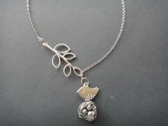 Freshwater Silver Pearl Bird's Nest Lariat Necklace. $14.50, via Etsy.