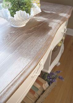 Annie Sloan White Waxed Dresser Top