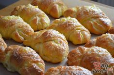 Croissants, Sandwich Recipes, Sausage, Sandwiches, Good Food, Food And Drink, Soup, Favorite Recipes, Bread