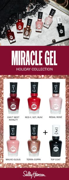 Miracle Gel | Easy 2 Step Gel System My Beauty, Beauty Makeup, Beauty Hacks, Beauty Tips, Hansen Is, Sally Hansen, Us Nails, Hair And Nails, Great Nails