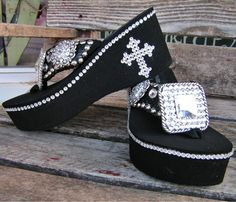 Cowgirl bling flip flops: $320????????? Yeah, right