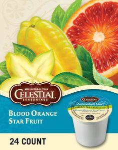 Celestial Seasonings Antioxidant Max Green Tea Blood Orange Star Fruit K-Cups Coffee K Cups, Coffee Pods, Hot Coffee, Gourmet Recipes, Snack Recipes, Green Mountain Coffee, Natural Vitamins, Blood Orange, Keurig