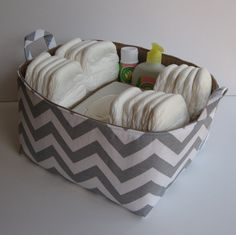 Diaper Caddy  Storage Container Organizer Bin Basket by BaffinBags, $52.00