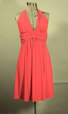 Retro B.Darlin, Red Halter Mini Halter #CocktailDress #reddress
