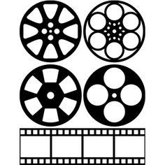 Silhouette Design Store - View Design #26030: 5 movie reel & film set