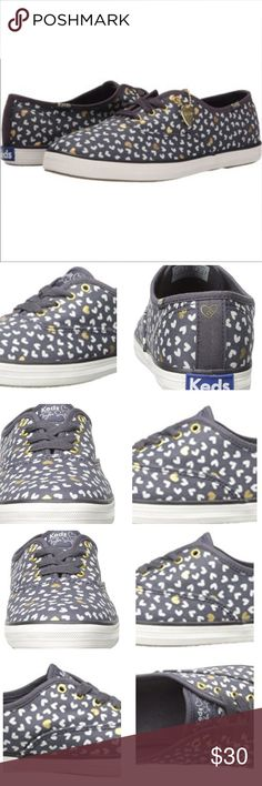 Keds Taylor Swift Mini Hearts Fashion Sneaker Keds Women's Taylor Swift Mini Hearts Fashion Sneaker, Grey, Sz-6 This is a signature Taylor Swift shoe in the iconic Keds Champion style. The upper is metallic mini heart print. Each shoe comes with a heart charm. Unfortunately I no longer have the heart charm these are overall in good condition they are size €6.36 Keds Shoes Sneakers