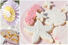 Sea shells and starfish cookies