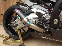 Austin racing exhaust for a bmw s1000rr