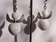 Angel earrings handmade color beads by ArtStubeZahir on Etsy, $10.00
