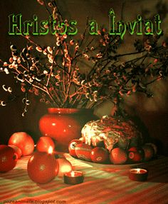Hristos a Înviat Paşte Easter Flowers, Holidays And Events, Happy Easter, Beautiful Flowers, Diy And Crafts, Projects To Try, Happy Birthday, Table Decorations, Blog