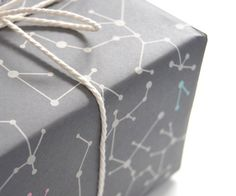 """Gray Molecules"" Wrapping Paper"