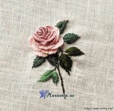 Hardanger Embroidery How to Make a Beautiful Rococo Rose Embroidery - Craft Community Diy Embroidery Rose, Embroidery Stitches Tutorial, Embroidered Roses, Flower Embroidery Designs, Hardanger Embroidery, Hand Embroidery Patterns, Embroidery Needles, Brazilian Embroidery, Couture