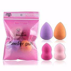 Fullkang 4pcs Pro Beauty Flawless Makeup Blender Foundation Puff Multi Shape Sponges Random Color
