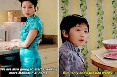 """21 Times """"Fresh Off The Boat"""" Totally Nailed Having Immigrant Parents Asian Humor, Fresh Off The Boat, Funny Sexy, Kid Memes, History Memes, Great Tv Shows, Funny Tumblr Posts, Parenting Humor, Funny Pins"""